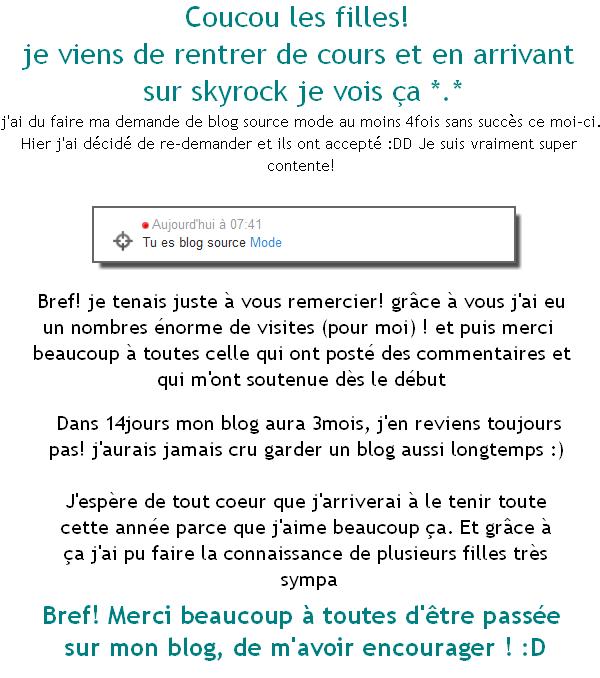 Blog Source mode: mercii <3