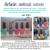 Article special vernis