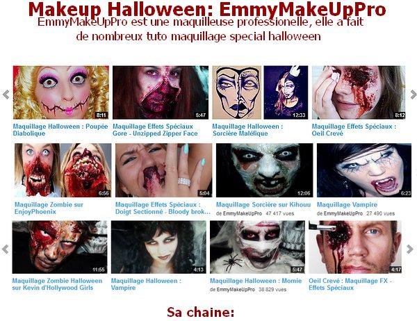 Halloween: makeup avec EmmyMakeUpPro