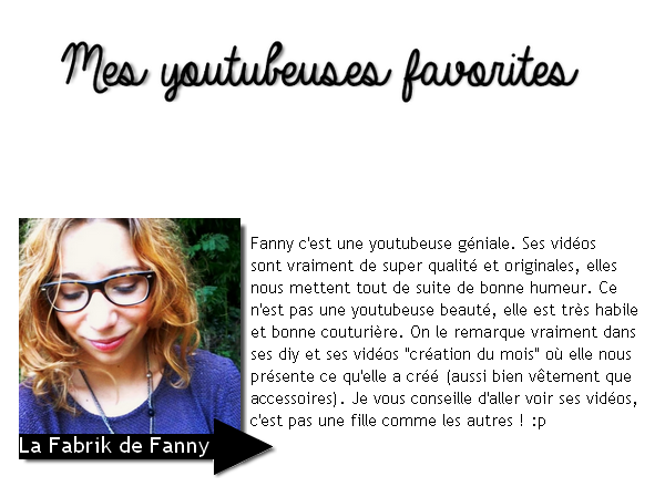 Mes youtubeuses favorites!