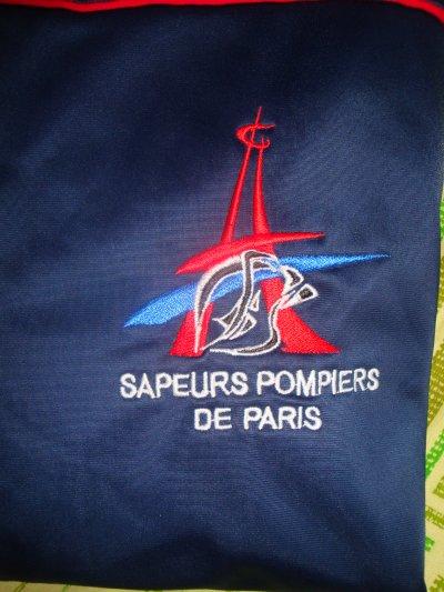 VESTE DE SURVETEMENT DE LA BRIGADE DES SAPEURS-POMPIERS DE PARIS