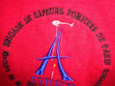 N°2 SWEAT-SHIRT  DU GREP DE LA BRIGADE DES SAPEURS-POMPIERS DE PARIS