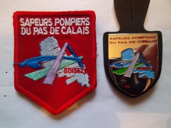 ECUSSON ET INSIGNE PAS DE CALAIS 62