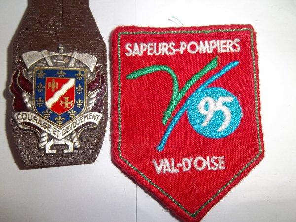 INSIGNE ET ECUSSON N°1 DEPARTEMENT VAL D'OISE 95