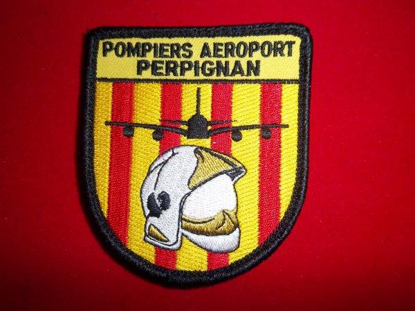 ECUSSON SAPEURS-POMPIERS AEROPORT DE PERPIGNAN PYRENEES-ORIENTALES 66