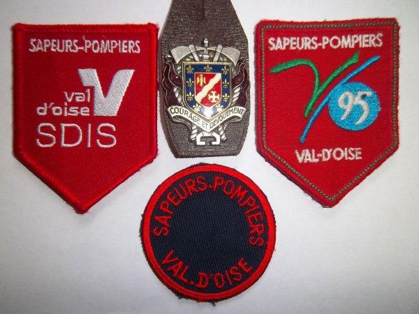 ECUSSONS ET INSIGNE ( SUITE ) VAL D'OISE 95