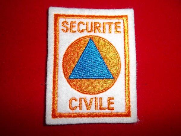 ANCIENS ECUSSONS SECURITE CIVILE  AVEC VELCRO