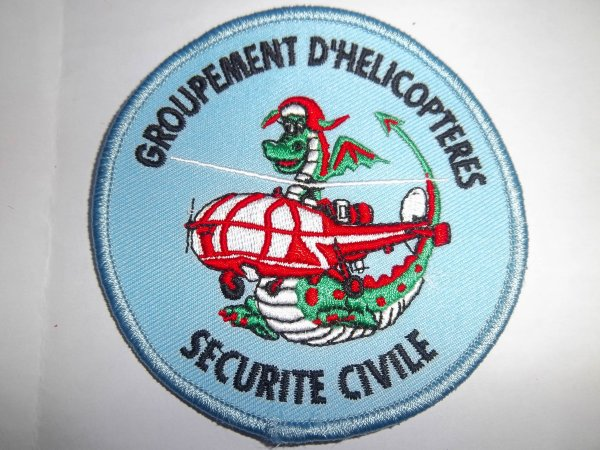 ECUSSON GROUPEMENT HELICOPTERES ALOUETTE III DRAGON SECURITE CIVILE