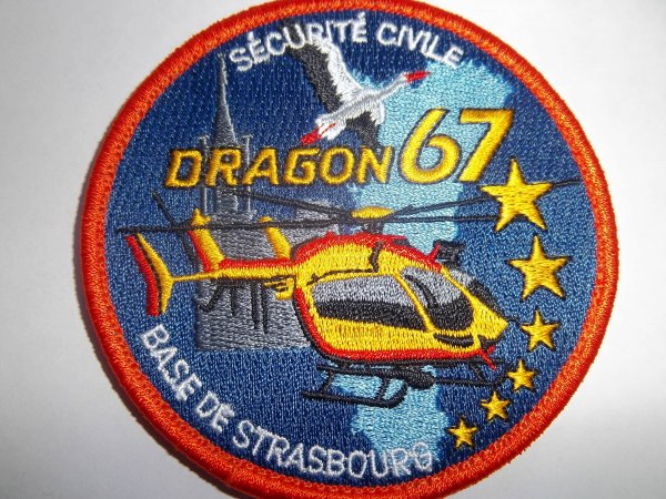 ECUSSON SECURITE CIVILE DRAGON 67  BASE STRASBOURG-ENTZHEIM 67