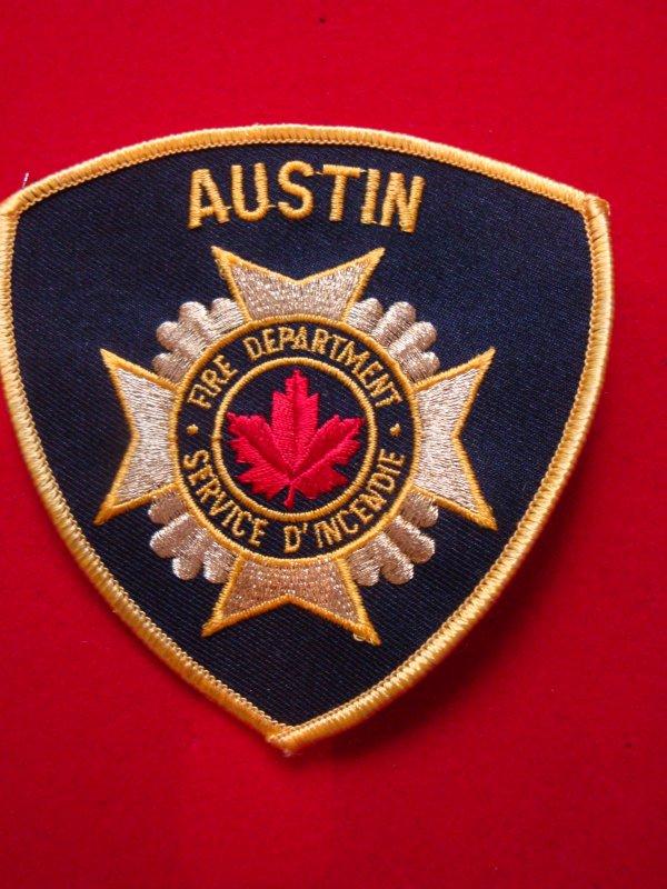 ECUSSON N°2 POMPIERS AUSTIN CANADA
