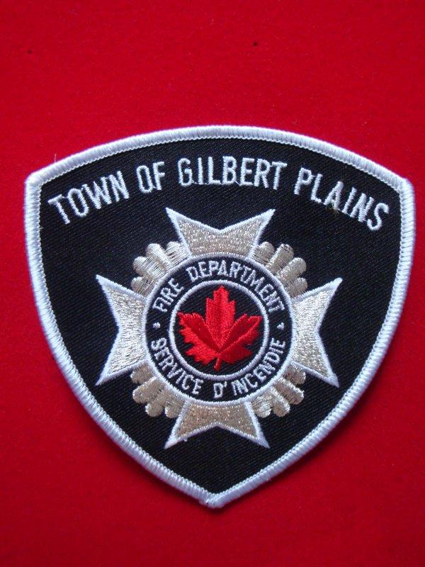 ECHANGE ECUSSON POMPIERS TOWN OF GILBERT PLAINS CANADA CONTRE ECUSSON SAPEURS-POMPIERS FRANCAIS