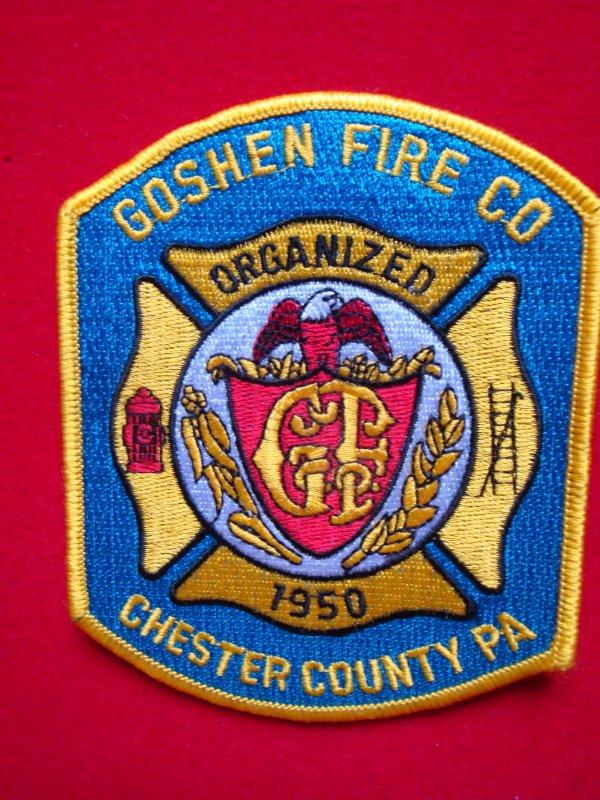 ECHANGE ECUSSON POMPIERS GOSHEN FIRE COMPAGNIE USA CONTRE ECUSSON SAPEURS-POMPIERS FRANCAIS