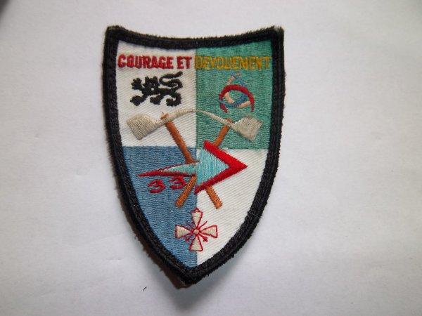 ECHANGE CET ECUSSON GIRONDE 33 CONTRE ECUSSON POMPIERS FRANCAIS