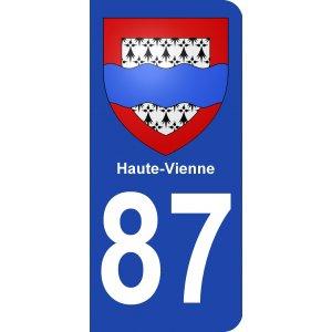 ECUSSONS ET INSIGNES DEPARTEMENT HAUTE-VIENNE 87