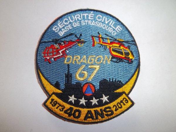 ECUSSON ANNIVERSAIRE DRAGON BAS RHIN 67