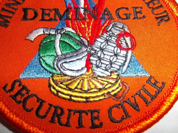 ECUSSON DEMINAGE SECURTE CIVILE ANNEAU GRENADE ROUGE