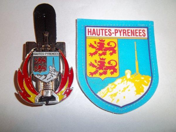INSIGNE ET ÉCUSSON HAUTES-PYRÉNÉES 65