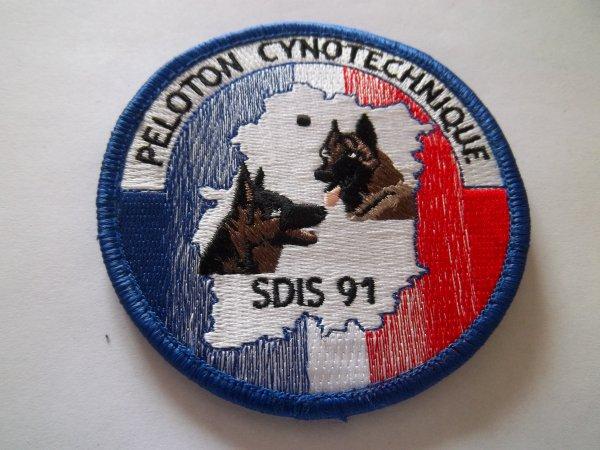 ÉCUSSON CYNOTECHNIQUE SDIS 91