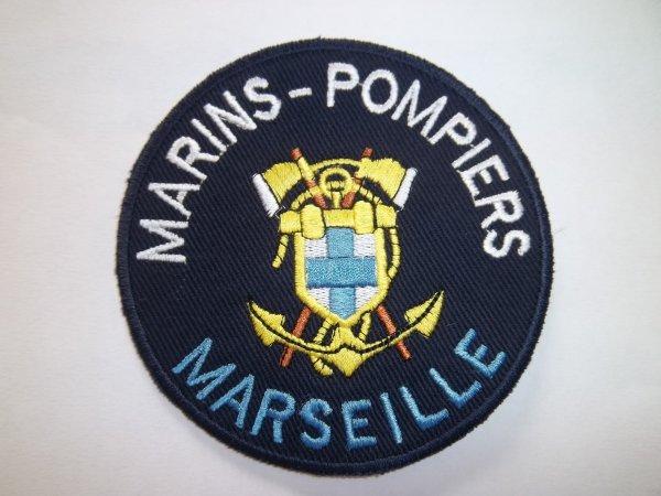 ÉCUSSON ROND DU BATAILLON  MARINS-POMPIERS DE MARSEILLE 13