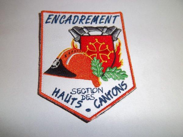 ÉCUSSON ENCADREMENT JSP  HAUTS- CANTONS 34