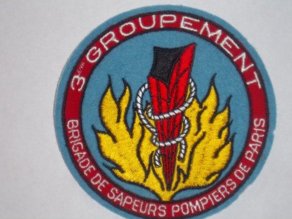 ÉCUSSON 3 ème  GROUPEMENT INCENDIE PARIS 75