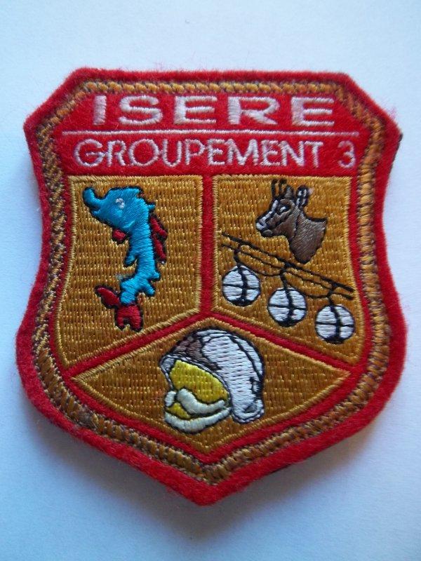 ÉCUSSON GROUPEMENT N°3 ISÈRE 38
