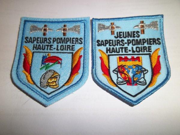 ÉCUSSONS SAPEURS-POMPIERS ET JSP HAUTE-LOIRE 43