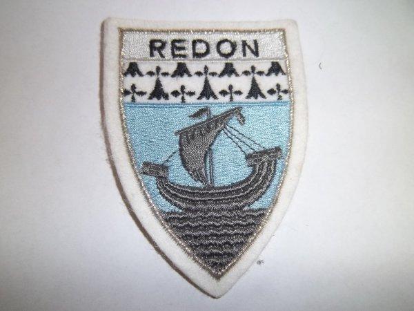 ÉCUSSON POMPIERS  DE REDON ILLE ET VILAINE 35
