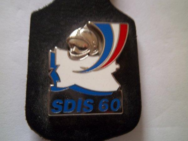 INSIGNE SDIS OISE DÉPARTEMENT 60