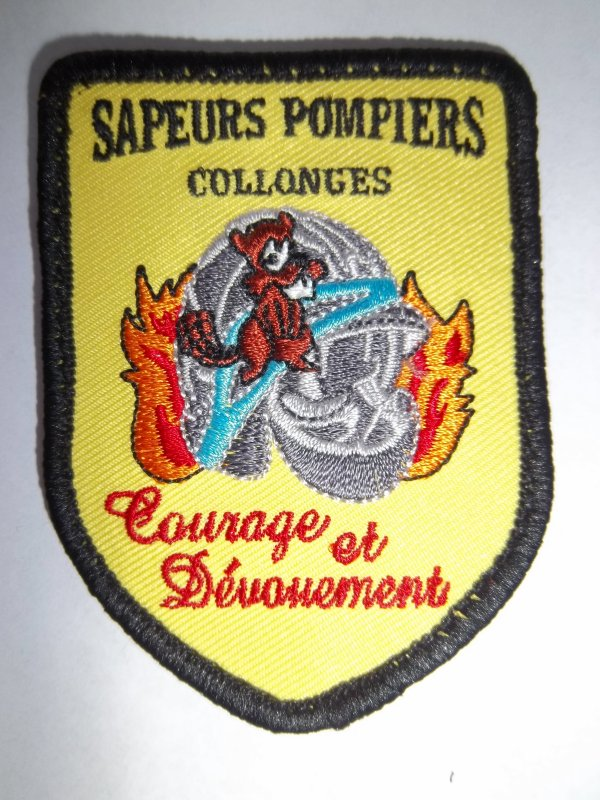ÉCUSSON POMPIERS COLLONGES 69