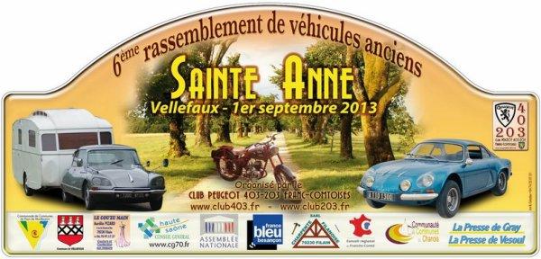 DIMANCHE 1er SEPTEMBRE,C ETAIT SORTIE VOITURE A VELLEFAUX (70) !