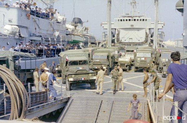 LE BDC DIVES AU LIBAN AU SEIN DE LA TF 452 EN 1982.