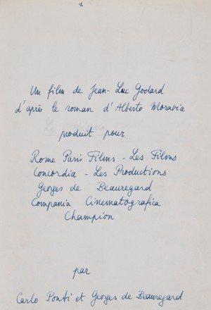 """...AUTRE RECORD,LE SCENARIO ORIGINAL DU FILM """" LE MEPRIS """" (1963) DE JEAN LUC GODARD A ETE VENDU POUR LA MODIQUE SOMME DE 143 000 EUROS !"""