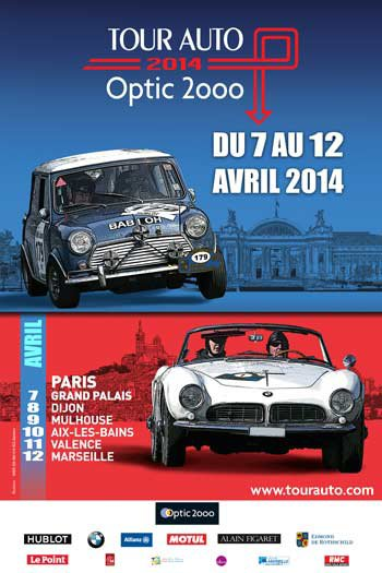 LE TOUR AUTO A MULHOUSE LE 9 AVRIL .