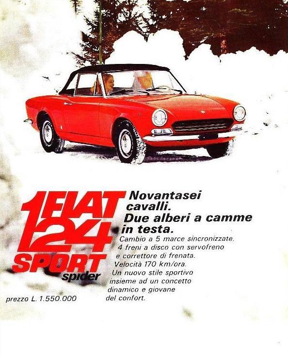 ...RETOUR SUR LE DUO FIAT 124 SPORT AVEC LE BEAU SPIDER PININFARINA !