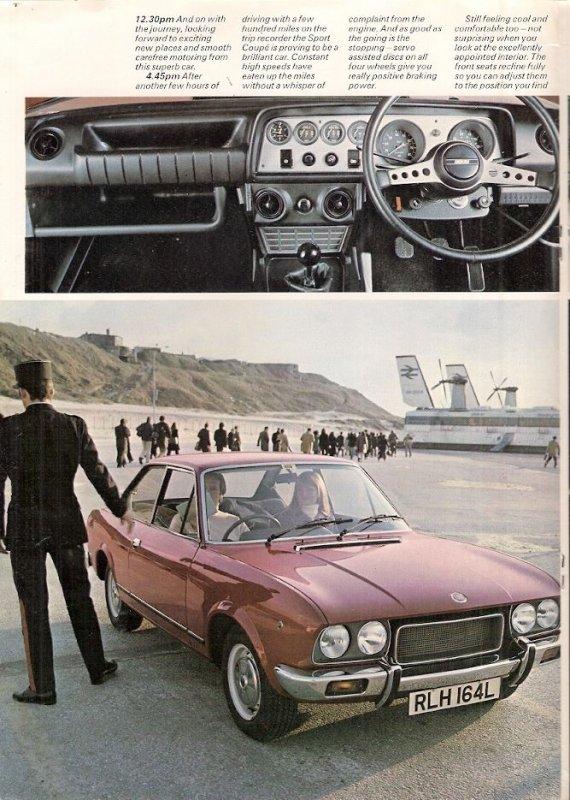 "FIAT 124 COUPé 1800 "" SAUCE ANGLAISE ""  !"