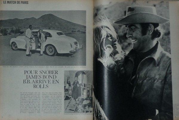 """ICI BB NOURRISSANT DE NOMBREUX CHIENS ABANDONNES DANS LE SUD DE L ESPAGNE,LA BELLE BRIGITTE ETANT SUR LE TOURNAGE DU FILM """"SHALAKO"""" EN 1967,ON PEUT VOIR QUE LA ROLLS SILVER CLOUD EST DEVENUE BLANCHE,COULEUR CHOISI PAR L ACTRICE  !"""