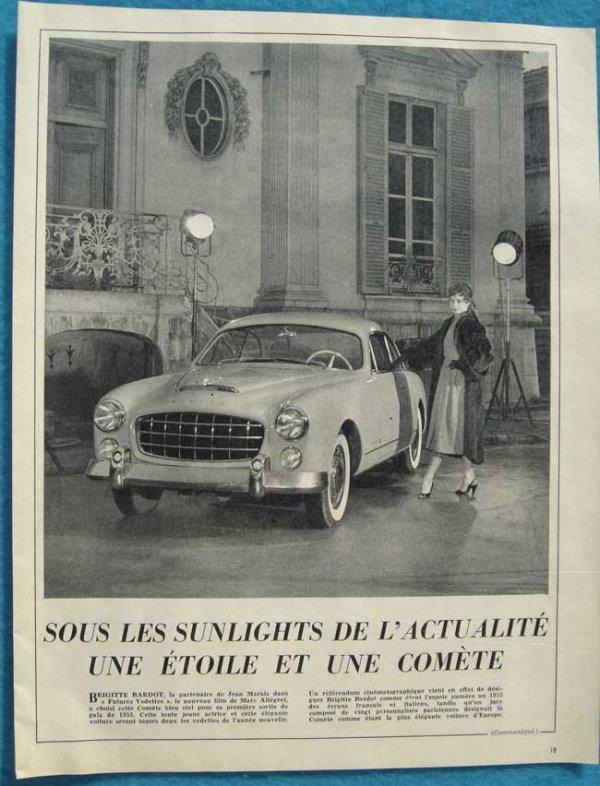 """PELE-MELE,BB EN LANCIA FLAVIA (CABRIOLET VIGNALE) SIMCA,DS,FIAT COUPé 2300,FIAT""""EDEN-ROC"""",ETC ETC...."""