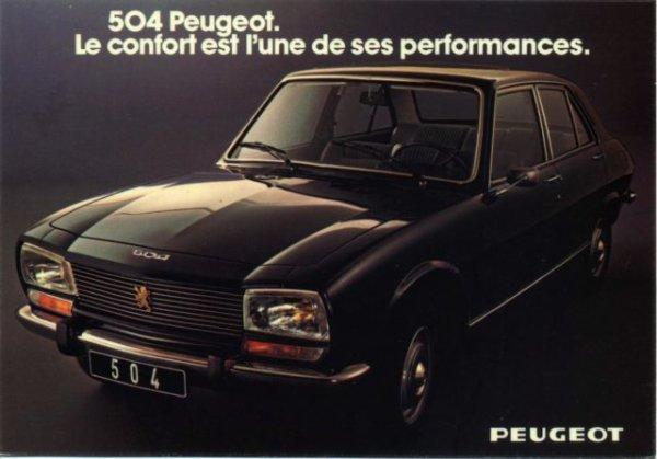 PEUGEOT 504 BERLINE (1968-->1983)