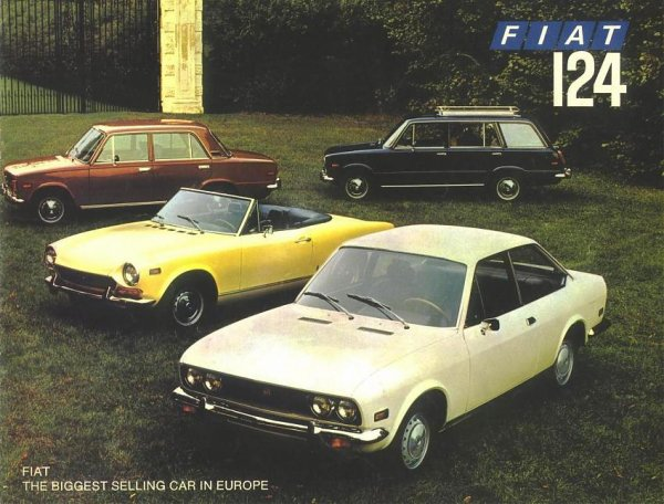CATALOGUE FIAT 124 DE L ANNEE 1972