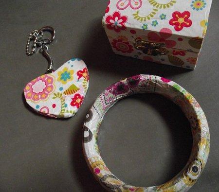 Coffre bijoux, bracelet, porte clé