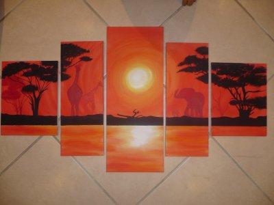 tableau africain en 5 parties blog de coralie25410. Black Bedroom Furniture Sets. Home Design Ideas