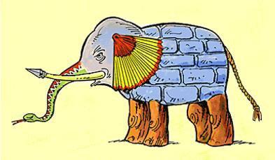 Het verhaal van de zes blinden en de olifant