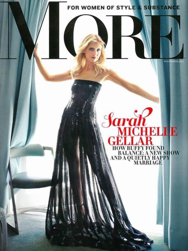 Sarah Michelle Gellar photographiée par le More Magazine