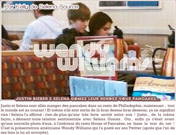 """-Divers- Voici une nouvelle photo , provenant du twitter de Selena , où elle apprend au cast des sorciers -Divers-'de waverly place à faire le """"How to dougie"""" ! Retrouvez la vidéo ici ! J'aime beaucoup la photo -Divers-'et encore plus la vidéo , elle est très drôle .  Votre avis ?     -Divers- Selena et Justin Bieber dans un resto de Philladelphie, Selena et Justin en couple? Votre avis ?"""
