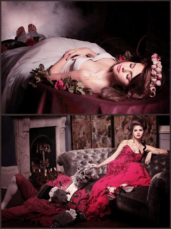 """-Shoot- Re-découvre un ancien photoshoot de Selena datant de 2010 dans lequel elle pose dans le  -""""Shoot_rôle de Blanche-Neige ou encore dans celui de la belle et la bête. J'aime beaucoup ces photos  -""""Shoot_elles sont super jolies tout comme Selena !  Votre avis ?"""