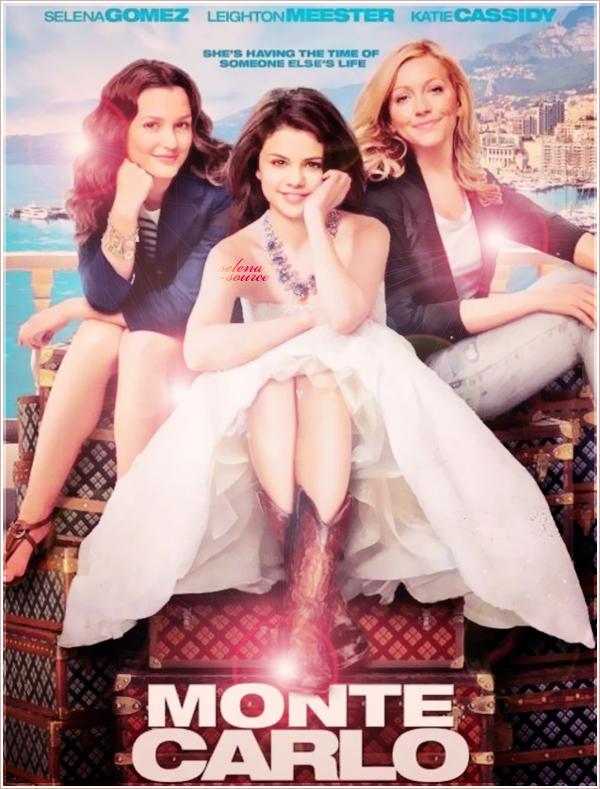 """-Film- Découvrez l'affiche officielle du nouveau Film de Selena, """" Monte Carlo """" qui sort le 1er juillet -""""Film_2011 aux Etats-Unis. J'aime beaucoup, elles sont jolies dessus ! Votre avis ?"""