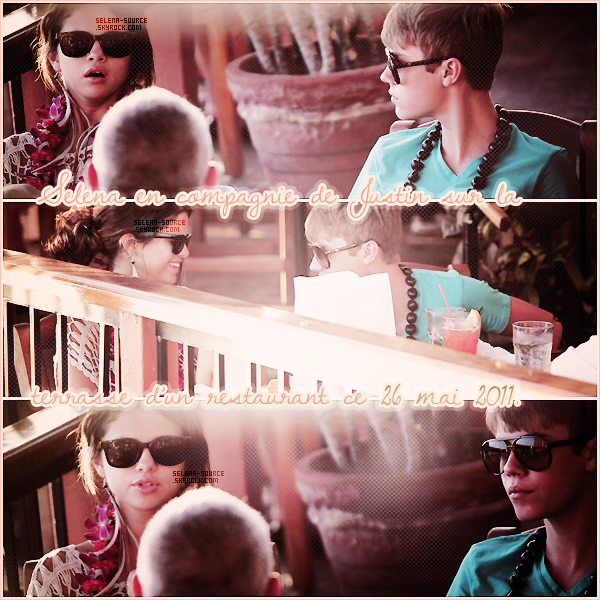 """-Candids- Encore de nouveaux candids de Selena et Justin ! Ceux-là datent du 26 mai 2011 , lorsque -""""Candids_Jelena faisait une sortie au jardin tropical de Maui toujours dans Hawaii ! Côté tenue : ça -""""Candids_change pas depuis 2 jours donc toujours le même avis !  Votre avis ?"""