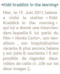 """-Event- Hier le 15 juin 2011 , Selena était l'invitée dans l'émission du matin «Good Morning Texas» , à -""""Event'_Dallas. A la sortie elle a été vue signant des autographes et faisant des photos pour les fans ! -""""Event'_Côté tenue : un slim noir , avec un filet ouvert couleur peau avec des talons argent , c'est -""""Event'_simple j'aime bien un TOP !  Votre avis ?"""