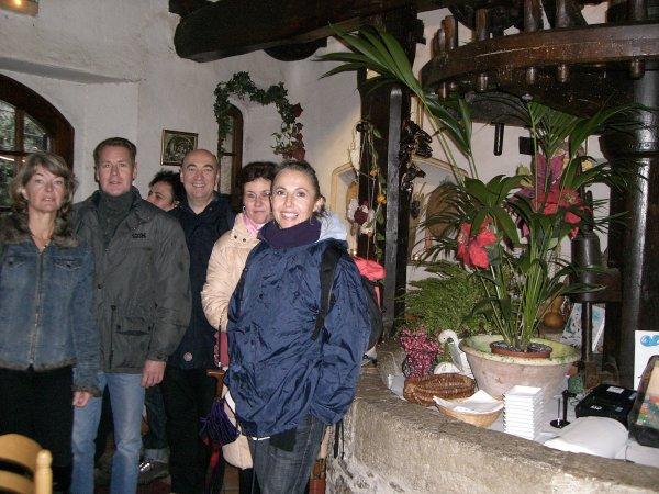 """A l'intérieur du restaurant """"Le Vieux Moulin"""""""